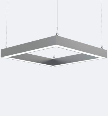 фото светильника линейный квадрат